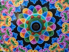 Beautifully painted carreta wheel